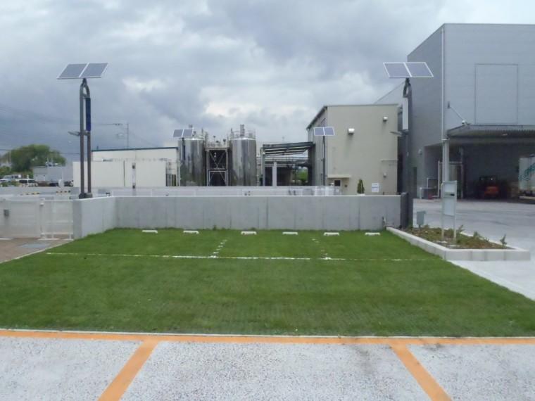 雪印メグミルク㈱海老名工場外構緑化工事
